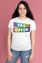 Yas Queen Rainbow on White t-shirt Simply Fearless
