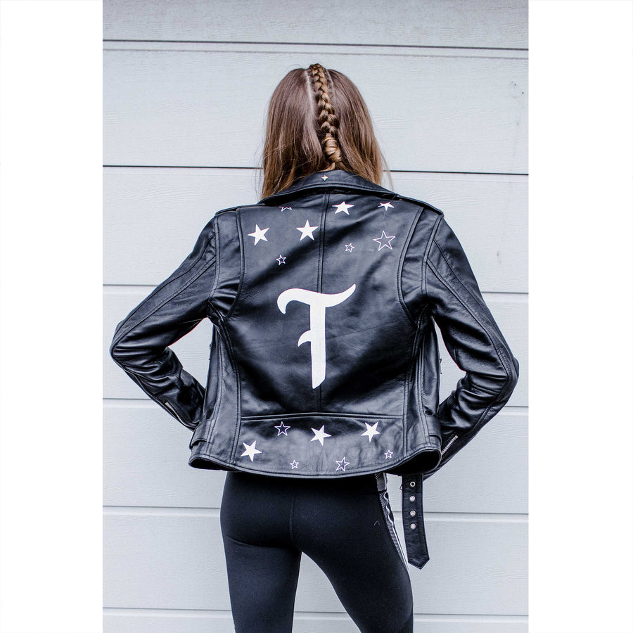 Stars Initial Leather Jacket