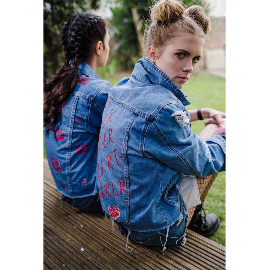 Lover Hater Heart Breaker Denim Jacket
