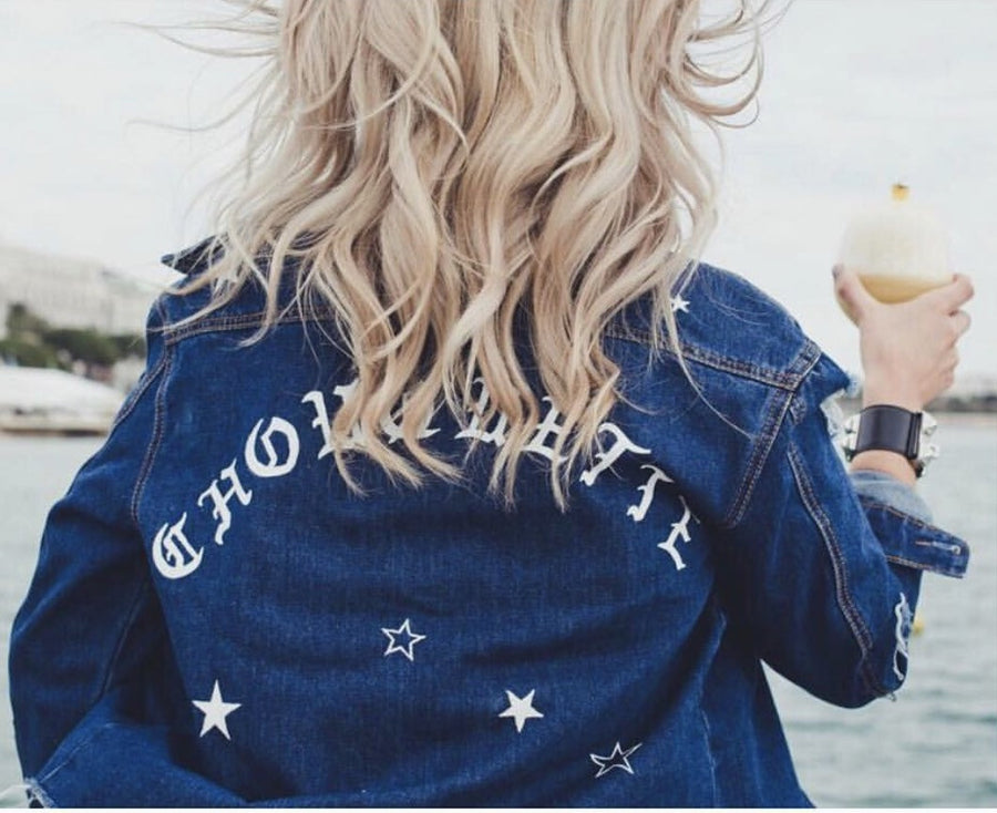 Stars Name Denim Jacket