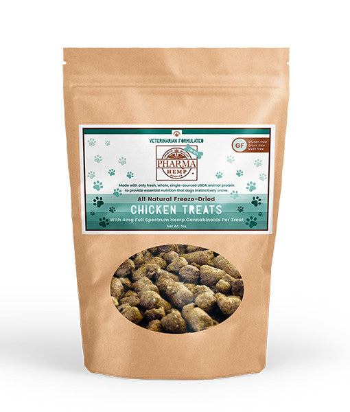 Pharma Hemp CBD Freeze-Dried Pet Treats - Chicken 3oz