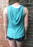 V-Neck Hooded Hi-Low Tank