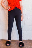 High Waist Brushed Poly Legging with Taping