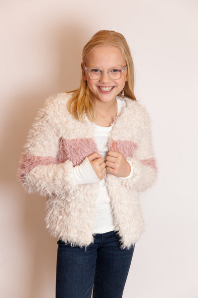 Faux Fur Block Jacket