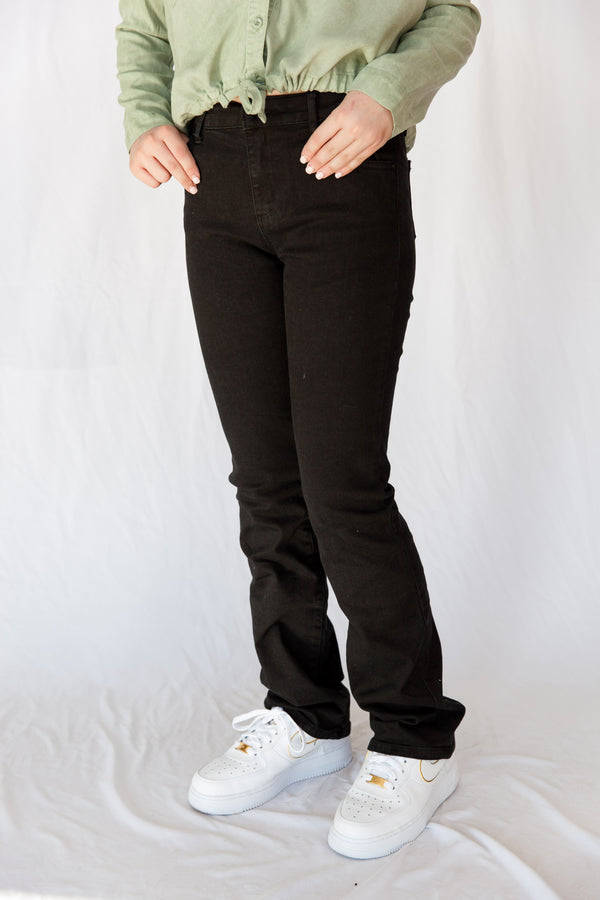 girls jeans, black jeans, tractr, tractr girls, high rise, bootcut, pants, pant, Dallas boutique, tween boutique, tween, teen, youth, young ladies, young women