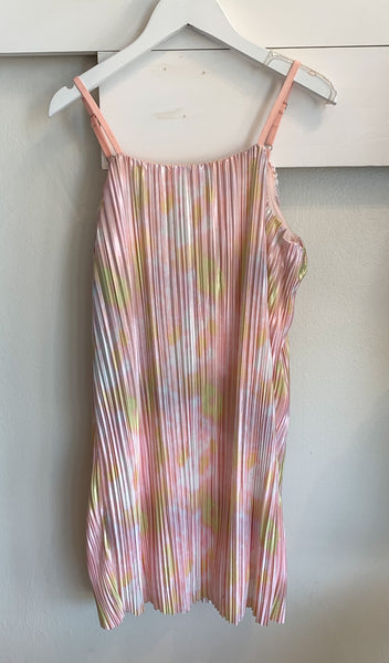 Spaghetti Strap Pleated Dress
