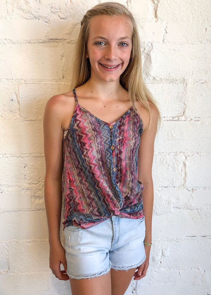 girls top, tween top, tank top, button down tank top, button down, Dallas boutique, girls boutique, tween boutique, teen girls boutique, young girls boutique