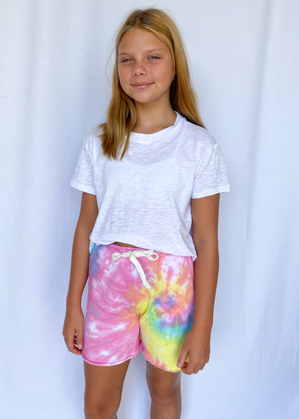 Rizzo Super Soft Pastel Tie Dye Shorts