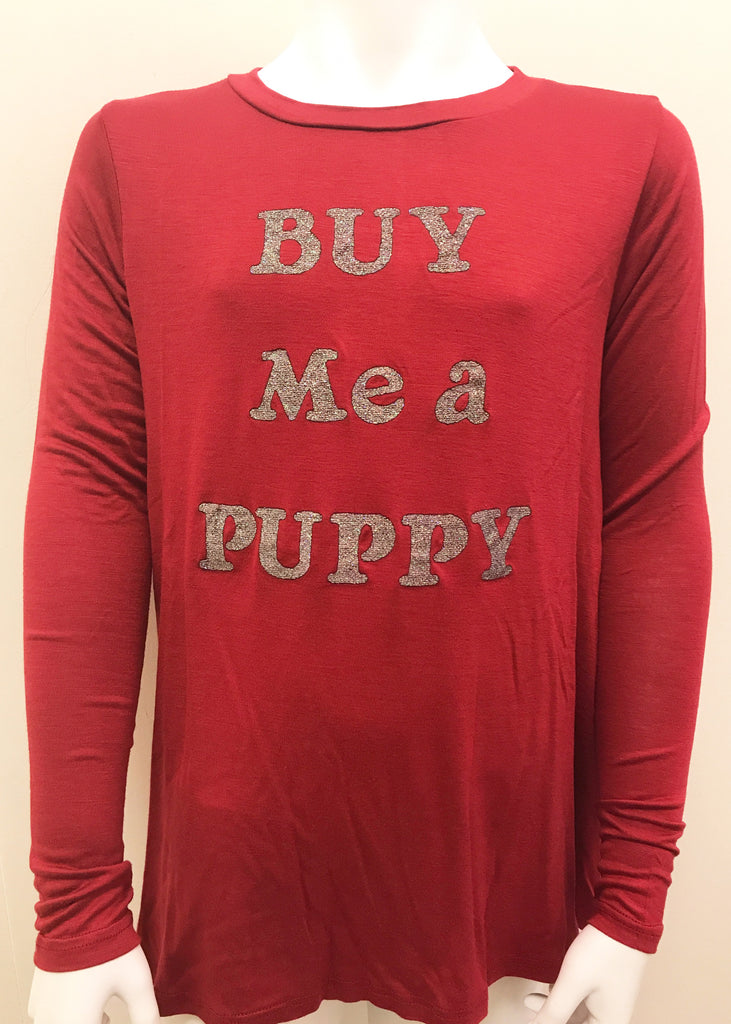 Buy Me a Puppy Knit Longsleeve Tee