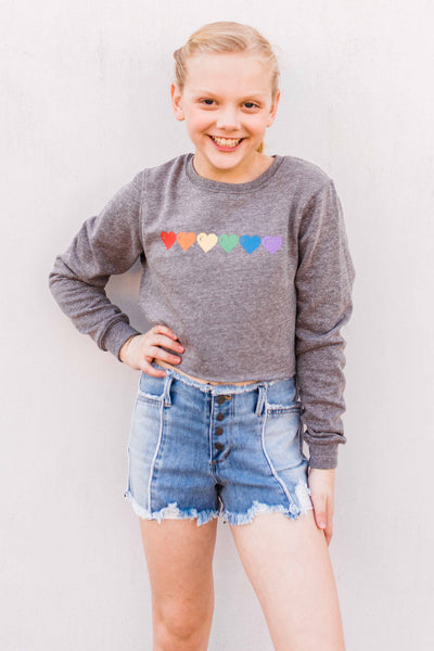 Rainbow Hearts Stella Sweatshirt