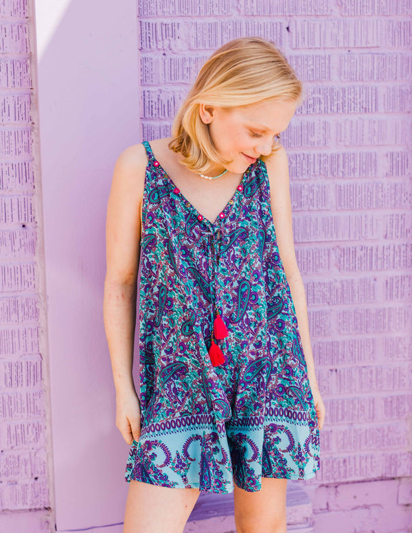 jumpsuit, paisley, tween jumpsuit, tween boutique, Dallas boutique