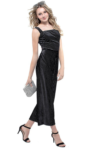 Jada Metallic Stripe Jumpsuit