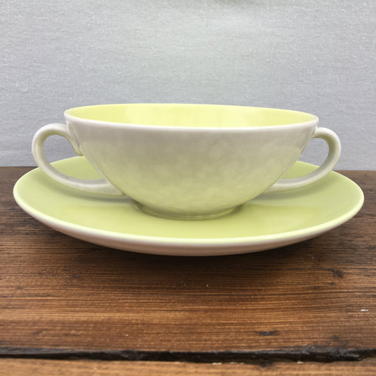 "Poole Pottery ""Twintone - Lime Yellow & Seagull / Moonstone Grey"""