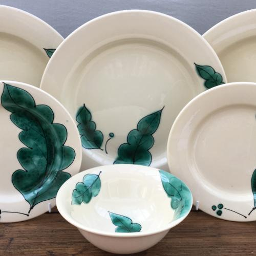 "Poole Pottery ""Green Leaves"""