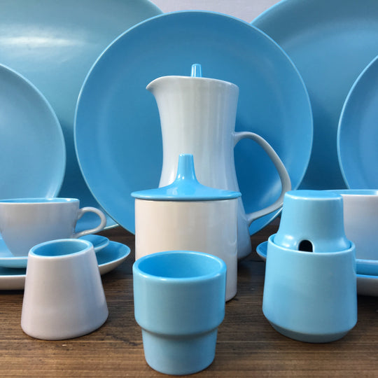 "Poole Pottery ""Twintone - Sky Blue & Dove Grey (C104)"""