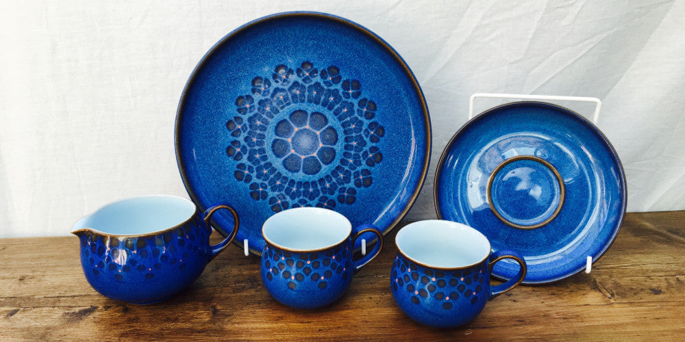 Denby Midnight is perhaps one of the most popular patterns of the 80u0027s capturing Denby Potteryu0027s customers imagination with itu0027s vivid blue and concentric ... & Denby