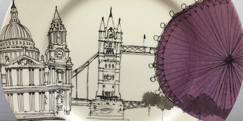 Poole Pottery Cities in Sketch