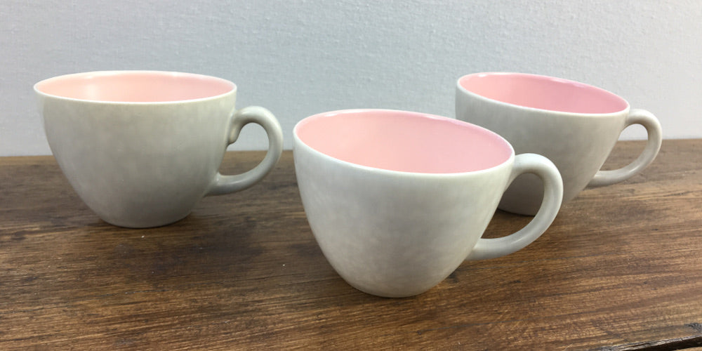 Poole Pottery Pink & Seagull