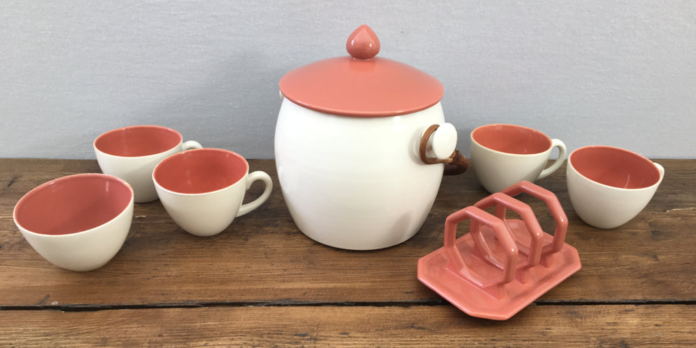 Poole Pottery Red Indian & Magnolia