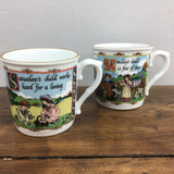 Royal Worcester Birthday Mugs