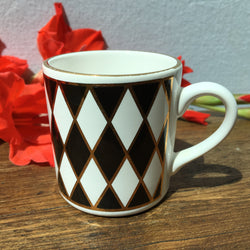 "Hornsea ""Silhouette"" Coffee Cup, Diamonds"