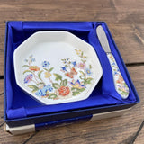 Aynsley Cottage Garden Butter Pat & Butter Knife Set