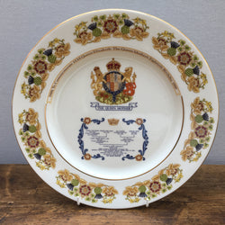 Aynsley China Queen Mother's 80th Birthday Plate