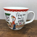 Creative Tops Born To Shop Hot Chocolate Mug - I Kiss Better Than I Cook