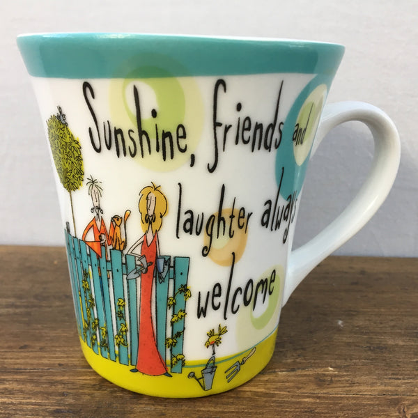 "Creative Tops ""Born To Shop"" Mug - 'Sunshine, friends and laughter...'"