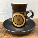Denby Arabesque Coffee Cup and Saucer