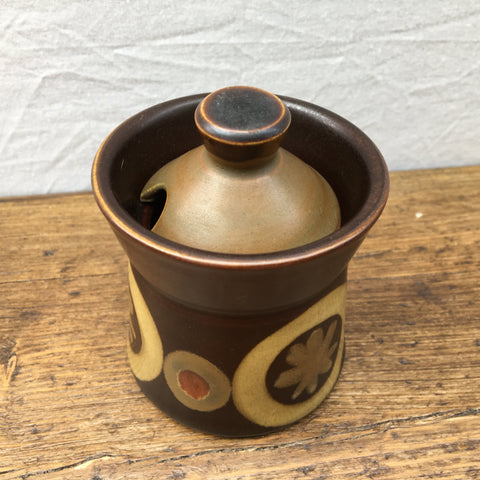 Denby Arabesque Mustard Pot
