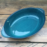 "Denby Greenwich Oval Eared Serving Dish, 12.5"" - Round Ears"