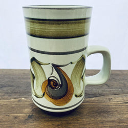 Denby Handpainted Green/Orange Mug