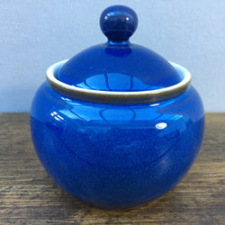 Denby Imperial Blue Lidded Sugar Dish (Rounded Shape)