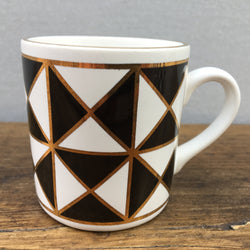"Hornsea ""Silhouette"" Coffee Cup, Triangles"