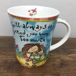 Johnson Brothers Born To Shop Mug - You'll always be my friend