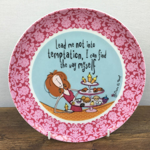 Johnson Brothers Born To Shop Plate - Lead me not into temptation...