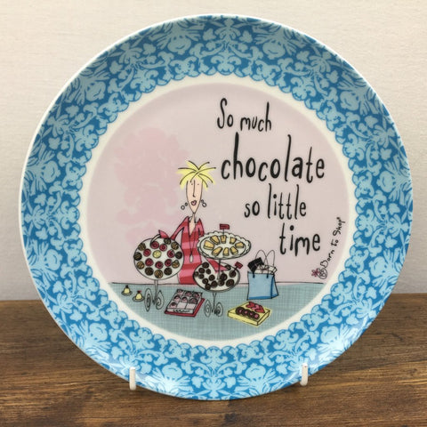 Johnson Bros Born To Shop Plate - So much chocolate, so little time