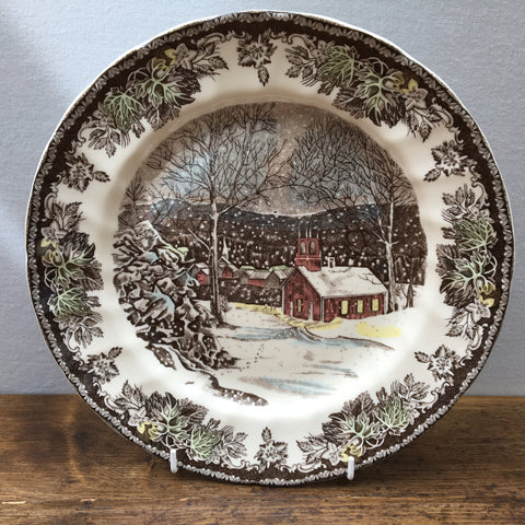 Johnson Bros The Friendly Village Dinner Plate - The School House