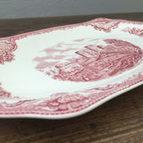 Johnson Bros Old Britain Castles Pink Sandwich Tray