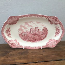 Johnson Bros Old Britain Castles Pink Sandwich Serving Plate