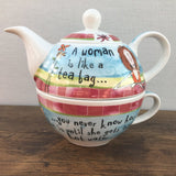 Johnson Bros Born To Shop Teapot for One