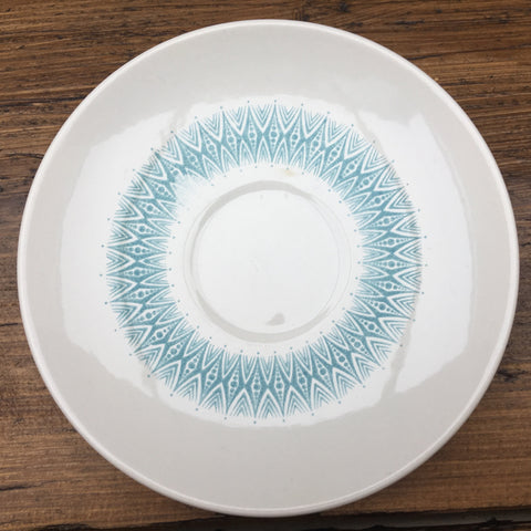 Poole Pottery Arabesque Blue Tea Saucer