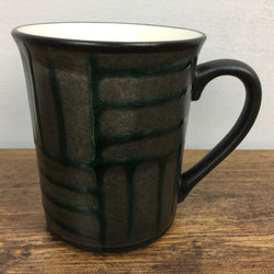 Poole Pottery Black Mug with Green Lines