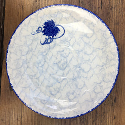 Poole Pottery Blue Leaf Breakfast Saucer