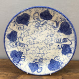 Poole Pottery Blue Leaf Dinner Plate