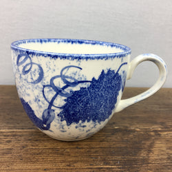 Poole Pottery Blue Leaf Tea Cup
