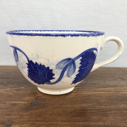 Poole Pottery Blue Leaf Breakfast Cup