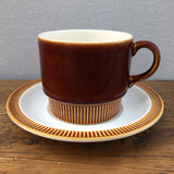 Poole Pottery Chestnut Breakfast Cup & Saucer
