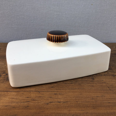Poole Pottery Chestnut Butter Dish (Lid Only)